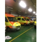Ambulances.